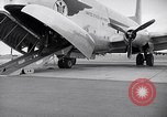 Image of Airmen boarding C-124A Globemaster Roswell New Mexico USA, 1953, second 22 stock footage video 65675032424