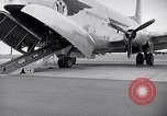 Image of Airmen boarding C-124A Globemaster Roswell New Mexico USA, 1953, second 24 stock footage video 65675032424