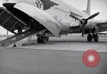 Image of Airmen boarding C-124A Globemaster Roswell New Mexico USA, 1953, second 26 stock footage video 65675032424