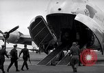 Image of Airmen boarding C-124A Globemaster Roswell New Mexico USA, 1953, second 62 stock footage video 65675032424