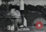 Image of A-4 Missile on launch pad Ostvorpommern Germany, 1942, second 9 stock footage video 65675032512