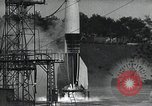 Image of A-4 Missile on launch pad Ostvorpommern Germany, 1942, second 11 stock footage video 65675032512