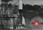 Image of A-4 Missile on launch pad Ostvorpommern Germany, 1942, second 12 stock footage video 65675032512