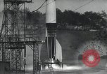 Image of A-4 Missile on launch pad Ostvorpommern Germany, 1942, second 13 stock footage video 65675032512