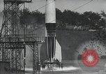Image of A-4 Missile on launch pad Ostvorpommern Germany, 1942, second 14 stock footage video 65675032512