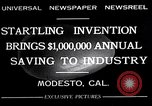 Image of egg breaker and separator machine Modesto California USA, 1932, second 2 stock footage video 65675032518