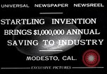 Image of egg breaker and separator machine Modesto California USA, 1932, second 3 stock footage video 65675032518