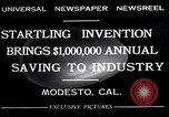 Image of egg breaker and separator machine Modesto California USA, 1932, second 4 stock footage video 65675032518