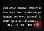 Image of Nazi concentration camp atrocities Germany, 1945, second 12 stock footage video 65675032522