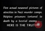 Image of Nazi concentration camp atrocities Germany, 1945, second 13 stock footage video 65675032522