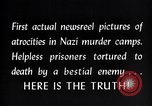 Image of Nazi concentration camp atrocities Germany, 1945, second 14 stock footage video 65675032522