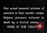 Image of Nazi concentration camp atrocities Germany, 1945, second 19 stock footage video 65675032522
