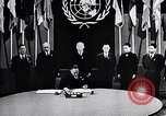 Image of Harry S Truman at UN Charter conference San Francisco California USA, 1945, second 16 stock footage video 65675032539