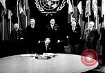 Image of Harry S Truman at UN Charter conference San Francisco California USA, 1945, second 38 stock footage video 65675032539