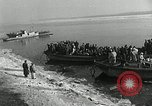 Image of Korean refugees ferrying across river Pyongyang North Korea, 1950, second 13 stock footage video 65675032638