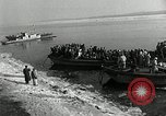 Image of Korean refugees ferrying across river Pyongyang North Korea, 1950, second 16 stock footage video 65675032638