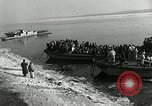 Image of Korean refugees ferrying across river Pyongyang North Korea, 1950, second 17 stock footage video 65675032638