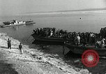 Image of Korean refugees ferrying across river Pyongyang North Korea, 1950, second 22 stock footage video 65675032638