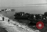 Image of Korean refugees ferrying across river Pyongyang North Korea, 1950, second 23 stock footage video 65675032638