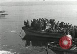 Image of Korean refugees ferrying across river Pyongyang North Korea, 1950, second 25 stock footage video 65675032638