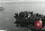 Image of Korean refugees ferrying across river Pyongyang North Korea, 1950, second 29 stock footage video 65675032638