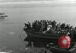 Image of Korean refugees ferrying across river Pyongyang North Korea, 1950, second 30 stock footage video 65675032638