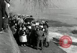 Image of Korean refugees ferrying across river Pyongyang North Korea, 1950, second 40 stock footage video 65675032638