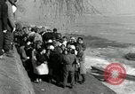 Image of Korean refugees ferrying across river Pyongyang North Korea, 1950, second 41 stock footage video 65675032638