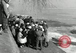 Image of Korean refugees ferrying across river Pyongyang North Korea, 1950, second 42 stock footage video 65675032638