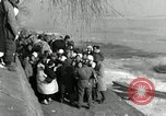 Image of Korean refugees ferrying across river Pyongyang North Korea, 1950, second 43 stock footage video 65675032638