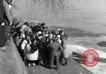 Image of Korean refugees ferrying across river Pyongyang North Korea, 1950, second 45 stock footage video 65675032638