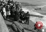 Image of Korean refugees ferrying across river Pyongyang North Korea, 1950, second 46 stock footage video 65675032638