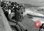 Image of Korean refugees ferrying across river Pyongyang North Korea, 1950, second 49 stock footage video 65675032638