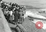 Image of Korean refugees ferrying across river Pyongyang North Korea, 1950, second 51 stock footage video 65675032638