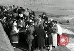 Image of Korean refugees ferrying across river Pyongyang North Korea, 1950, second 55 stock footage video 65675032638