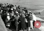 Image of Korean refugees ferrying across river Pyongyang North Korea, 1950, second 56 stock footage video 65675032638