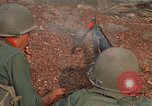 Image of RF-PF forces with M-60 machine gun and M-79 Grenade Launcher Vietnam, 1970, second 30 stock footage video 65675032682