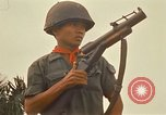 Image of RF-PF forces with M-60 machine gun and M-79 Grenade Launcher Vietnam, 1970, second 43 stock footage video 65675032682