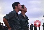 Image of 1st Air Cavalry division replacements watching helicopter demonstratio Vietnam, 1971, second 12 stock footage video 65675032698