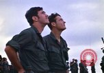 Image of 1st Air Cavalry division replacements watching helicopter demonstratio Vietnam, 1971, second 14 stock footage video 65675032698