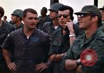 Image of 1st Air Cavalry division replacements watching helicopter demonstratio Vietnam, 1971, second 46 stock footage video 65675032698