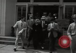 Image of Mildred Gillars aka Axis Sally arriving for trial Washington DC USA, 1948, second 21 stock footage video 65675032739