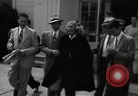 Image of Mildred Gillars aka Axis Sally arriving for trial Washington DC USA, 1948, second 23 stock footage video 65675032739