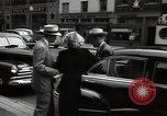 Image of Mildred Gillars aka Axis Sally arriving for trial Washington DC USA, 1948, second 40 stock footage video 65675032739