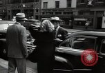 Image of Mildred Gillars aka Axis Sally arriving for trial Washington DC USA, 1948, second 41 stock footage video 65675032739