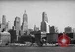 Image of skyscrapers Ellis Island New York USA, 1948, second 16 stock footage video 65675032740