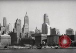 Image of skyscrapers Ellis Island New York USA, 1948, second 18 stock footage video 65675032740