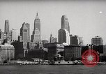 Image of skyscrapers Ellis Island New York USA, 1948, second 20 stock footage video 65675032740