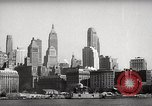 Image of skyscrapers Ellis Island New York USA, 1948, second 22 stock footage video 65675032740
