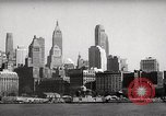 Image of skyscrapers Ellis Island New York USA, 1948, second 24 stock footage video 65675032740